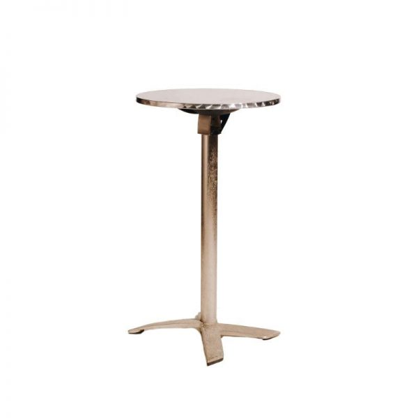 round-stainless-steel-bar-table-hire-south-coast