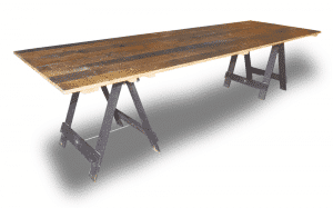 Vintage Timber Trestle Table
