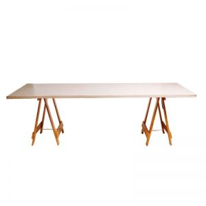 Whitewash Timber Table 2.4m x 1m
