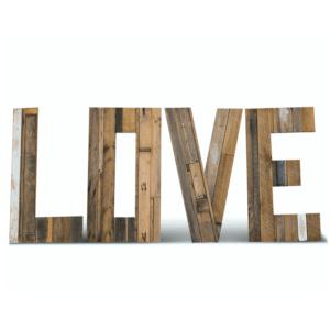 L O V E Letters Timber