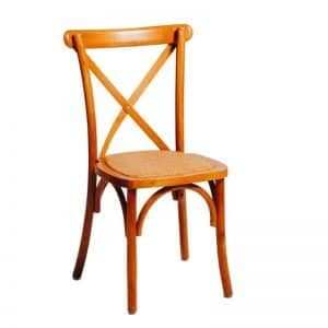 Timber Cross Back Chair