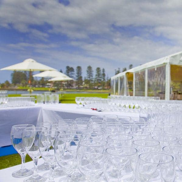 Glassware hire in Canberra and Shoalhaven