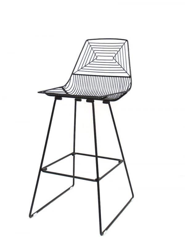 ZED-stool-hire-black-south-coast-party-hire