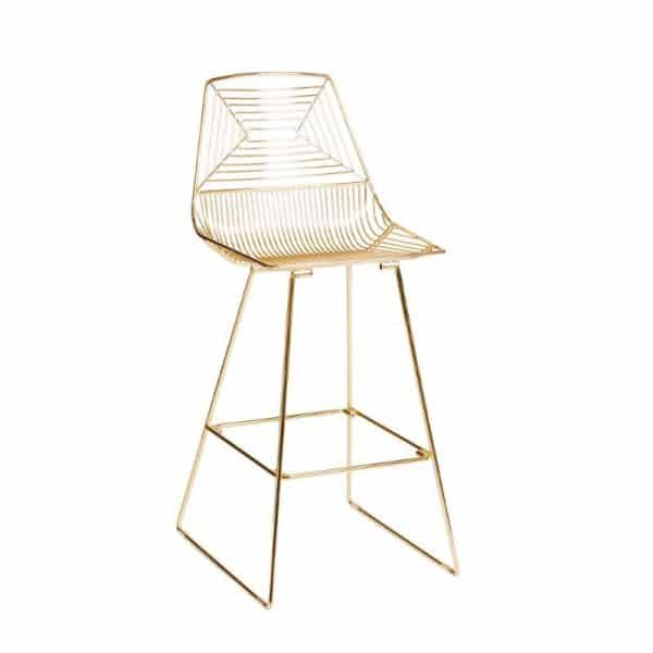 ZED-wire-stool-hire-gold-south-coast-party-hire