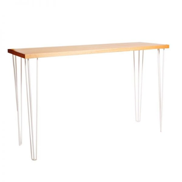 hunter-hairpin-timber-bar-table-hire-white-legs-south-coast