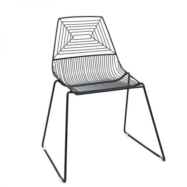 zed-wire-chair-black-hire-south-coast-southern-highlands-sydney