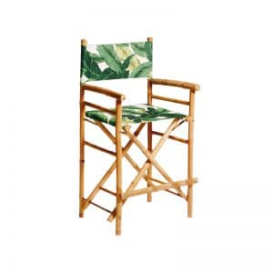 Bamboo Director Stool Palm