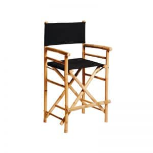 Bamboo Director Stool Black