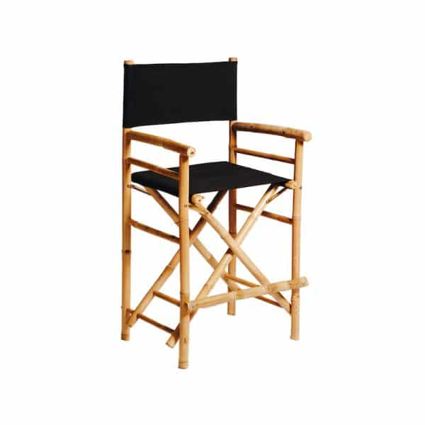 Bamboo-Director-Stool-black-hire-south-coast