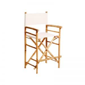 Bamboo Director Stool White