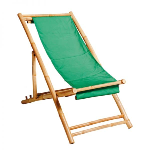 Beach-deck-Chair-bamboo-green-hire-south-coast