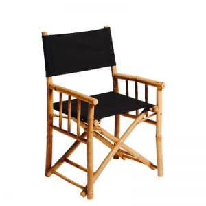 Bamboo Directors Chair Black