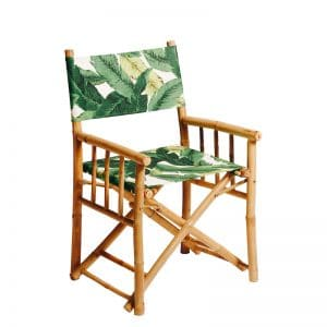 Bamboo Directors Chair Palm