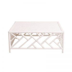 Hamptons Bamboo Coffee Table White