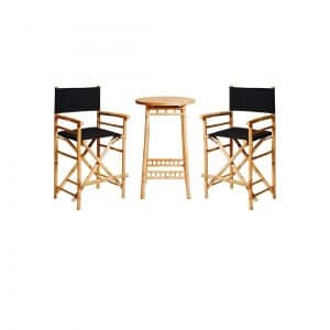 Bamboo Bar Table Package Black