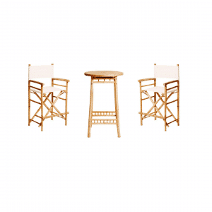 Bamboo Bar Table Package White