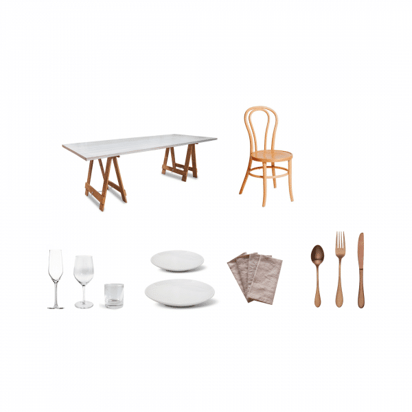 package-whitewash-table-Blonde-bentwood-premium-glass-coupe-plate-blush-napkin-rose-gold-cutlery