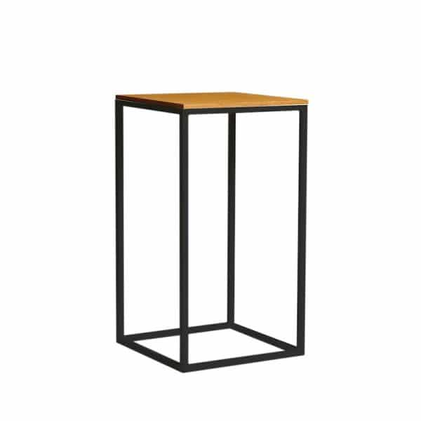 archer-square-bar-table-black-timber-hire-south-coast