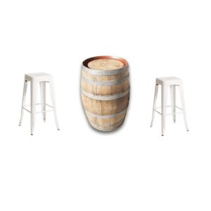 Wine Barrel & Tolix Stool Package